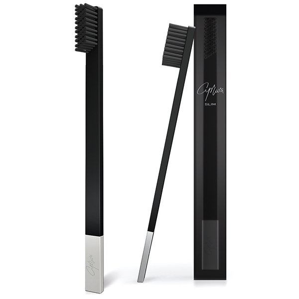 SLIM Black/Silver Soft Tooth Brush