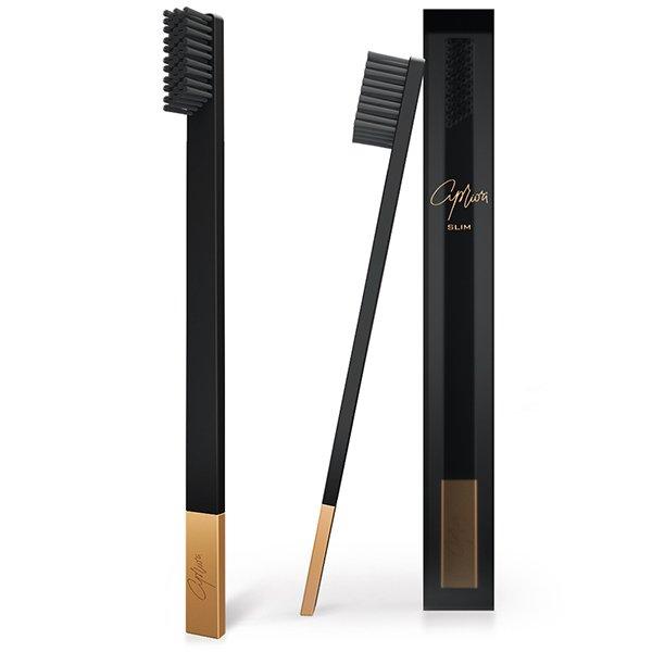 SLIM Black/Gold Soft Tooth Brush
